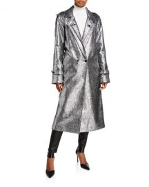 Andi Metallic Tweed Long Coat by RtA at Neiman Marcus