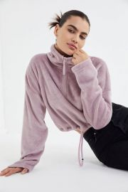 Angela Fleece Pullover Top at Urban Outfitters