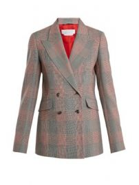 Angela double-breasted checked wool blazer at Matches