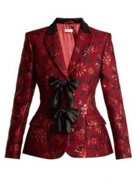 Angela single-breasted floral-brocade blazer at Matches