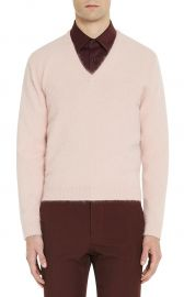 Angora-Blend V-Neck Sweater at Barneys