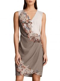 Anika Floral Dress at All Saints