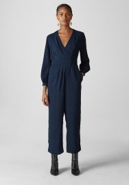 Animal Jacquard Wrap Jumpsuit by Whistles at Whistles