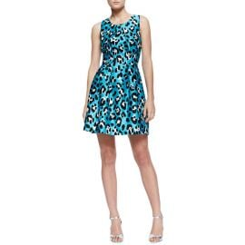Animal-Print Bell Dress by Michael Kors at Neiman Marcus