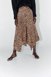 Animal Print Pleated Skirt by Zara at Zara