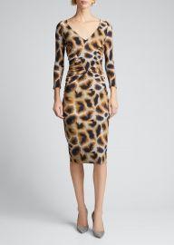 Animal Print V-Neck Dress by Chiara Boni La Petite Robe at Bergdorf Goodman