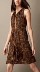 Animal print dress at Burberry