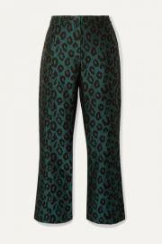 Anine Bing - Cindy leopard-jacquard slim-leg pants at Net A Porter