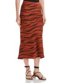 Anine Bing Bar Animal-Printed Silk Skirt Women - Bloomingdale s at Bloomingdales