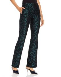 Anine Bing Cindy Emerald Leopard Jacquard Flared Pants Women - Bloomingdale s at Bloomingdales