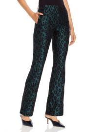 Anine Bing Cindy Emerald Leopard Jacquard Flared Pants Women - Bloomingdale s at Bloomingdales