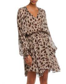 Anine Bing Elliana Leopard-Printed Silk Dress Women - Bloomingdale s at Bloomingdales