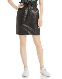 Anine Bing Laurie Leather Mini Skirt Women - Bloomingdale s at Bloomingdales