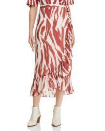 Anine Bing Lucky Zebra-Print Wrap Skirt Women - Bloomingdale s at Bloomingdales