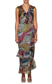 Anita Dot Devore Dress by Saloni at Barneys