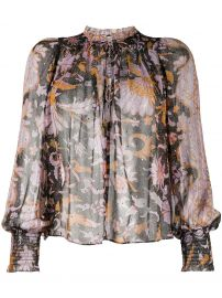 Anita graphic-print blouse at Farfetch