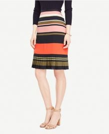 Ann Taylor Fluted Striped Skirt at Ann Taylor
