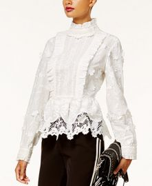 Anna Sui x INC International Concepts Lace Peplum Top at Macys