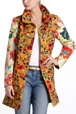 AnnaBeths Anthropologie floral coat at Anthropologie