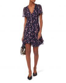 Annali Tie Front Mini Dress at Intermix