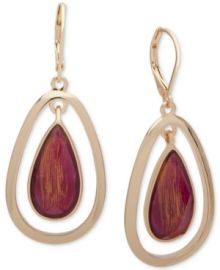 Anne Klein Gold-Tone Stone Orbital Drop Earrings at Macys