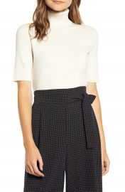 Anne Klein Short Sleeve Turtleneck Sweater   Nordstrom at Nordstrom