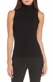 Anne Klein Sleeveless Turtleneck Top at Nordstrom