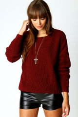 Annie Knit Sweater at Boohoo