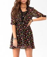 Annie's black floral dress at Forever 21