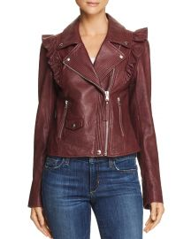 Annika Leather Moto Jacket at Bloomingdales