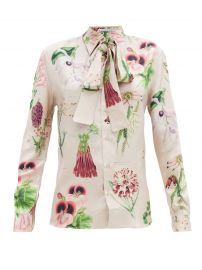 Annotated floral-print silk-twill shirt at Matches