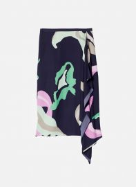 Ant Farm Print Asymmetrical Skirt at Tibi
