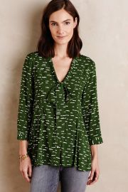Anthropologie Maeve Tie-Neck Swing Blouse at Anthropologie
