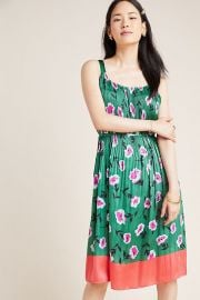 Anthropologie Mireille Pleated Dress at Anthropologie