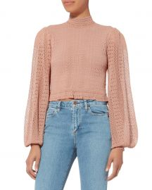 Antoinette Crop Top by Ronny Kobo at Intermix