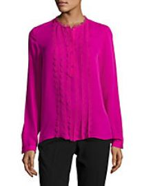 Antonella Scalloped Silk Blouse at Lord & Taylor