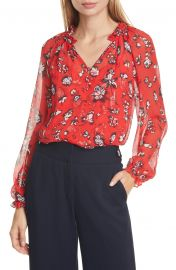 Antonette Floral Silk Blouse at Nordstrom