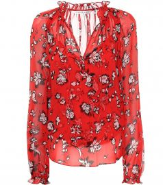 Antonette floral silk blouse at Mytheresa