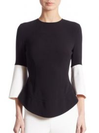 Antonio Berardi - Bell Sleeve Colorblock Blouse at Saks Fifth Avenue