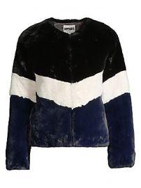 Apparis - Brigitte Colorblock Faux Fur Jacket at Saks Fifth Avenue