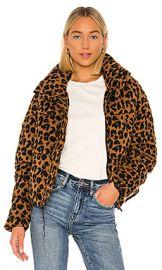 Apparis Paula Puffer Jacket in Chocolat Leopard from Revolve com at Revolve