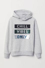 Appliqued Hooded Sweatshirt at H&M