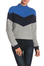Apres Ski Colorblock Knit Mock Neck Sweater by Ten Sixty Sherman at Nordstrom Rack