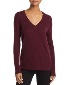 Aqua V-Neck Cashmere Sweater in Heather Burgundy at Bloomingdales