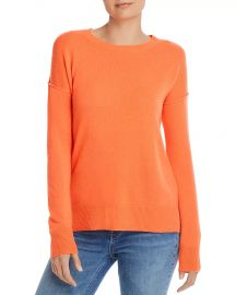 Aqua Cashmere High Low Crewneck Sweater at Bloomingdales