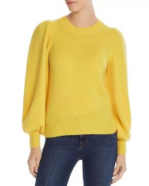Aqua Cashmere Puff Sleeve sweater at Bloomingdales