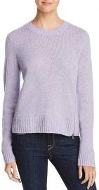 Aqua Cashmere Zip Detail Donegal Sweater at Bloomingdales