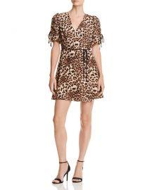 Aqua Leopard Print Wrap Dress at Bloomingdales
