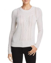 Aqua Mixed Knit Cashmere Sweater at Bloomingdales