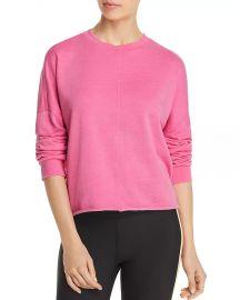 Aqua Raw Edge Sweatshirt at Bloomingdales